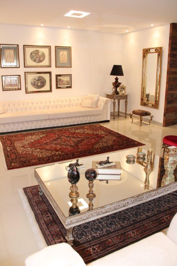 Sala desenvolvida para o projeto com estilo base de elegância contemporânea
